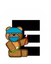 Alphabet Teddy Dental Checkup E