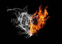火と水が結合したハー...