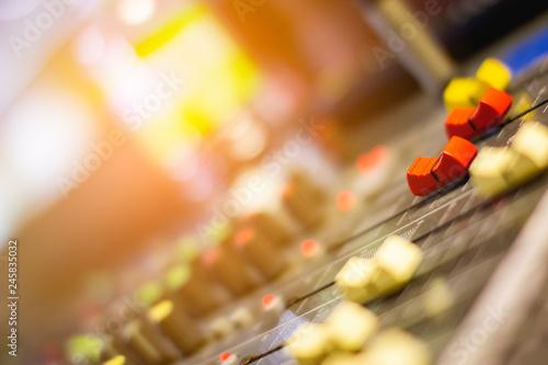 Fototapeta Audio Mixer Volume Slides. obraz na płótnie
