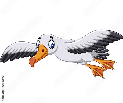 Fotografie, Obraz  Cartoon albatross flying