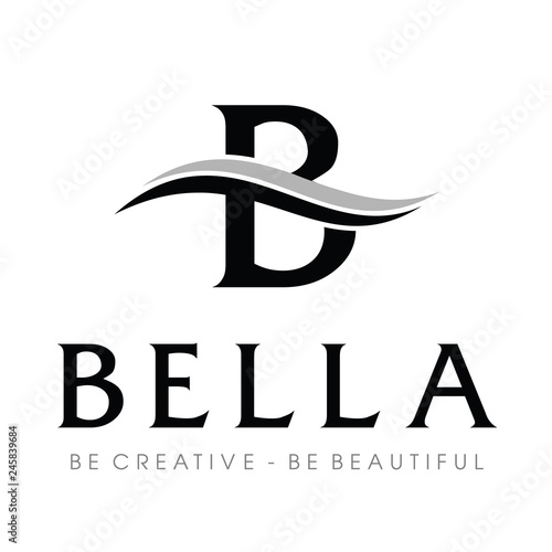 Monogram / Initial B typography logo design inspiration