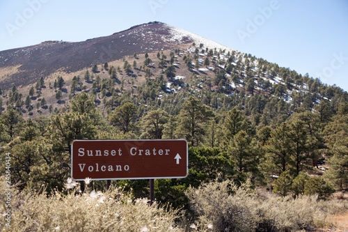 Fotografie, Tablou Sunset Crater is a cinder cone located north of Flagstaff in U