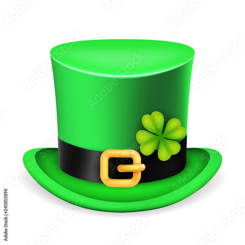 aded76ff Top hat saint patrick day ireland feast 3d isolated vintage design vector  illustration