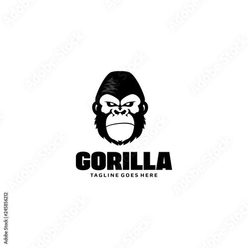 Naklejka premium Szablon Logo głowa goryla