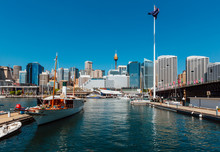 Darling Harbour Skyline During...