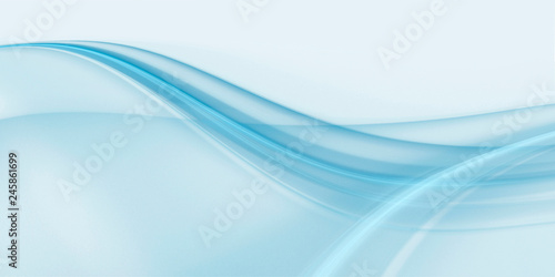 Cadres-photo bureau Abstract wave Abstract delicate blue background