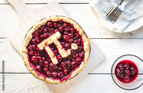 Pi Day Cherry Pie