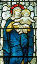Madonna And Child Stained Glas...