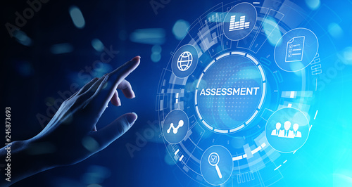 Assessment analysis Business analytics evaluation measure technology concept Wallpaper Mural