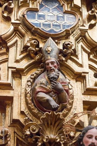 Fotografie, Obraz  obispo en retablo