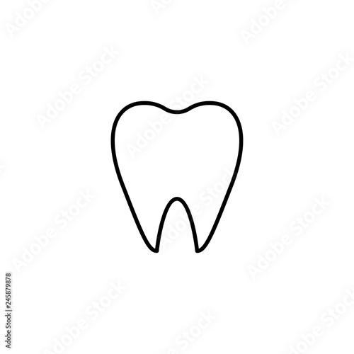 Fotografie, Obraz  tooth icon vector illustration