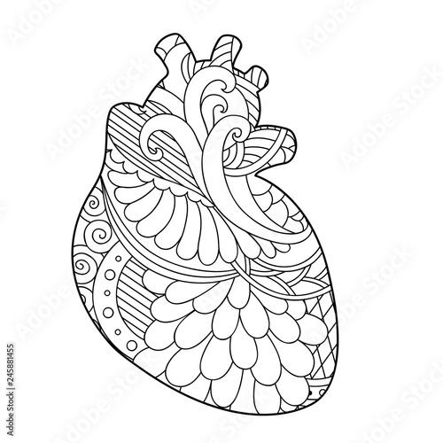 Decorative ornamental  heart. Canvas Print