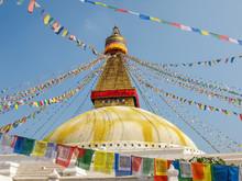 Boudhanath Stupa Among Of Pray...