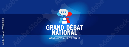 Fototapeta Grand débat national / consultation citoyenne obraz