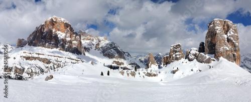 Fotografie, Tablou Winter landscape in The Dolomites