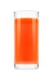 Fresh carrot juice glass