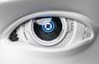 canvas print picture - 3D Illustration Roboter Auge