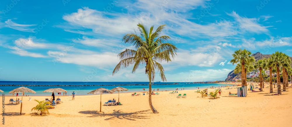 Fototapety, obrazy: Sandy and beautiful Teresitas beach in Tenerife