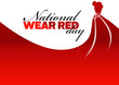 canvas print picture - National wear red day holiday