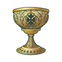 Holy Grail. Symbol Of Spiritua...