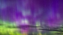 Northern Lights In Purple And ...