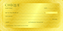Luxury Yellow Gold Cheque Temp...