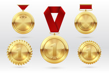 Gold Medal. Number 1 Golden Me...