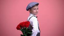 Little Gentleman Kid Hiding Ro...