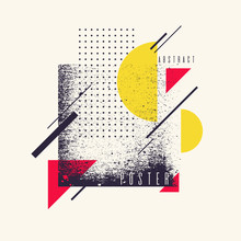 Retro Abstract Geometric Backg...