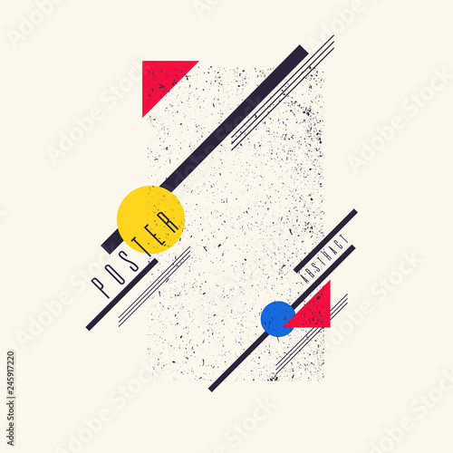 Retro abstract geometric background Canvas Print