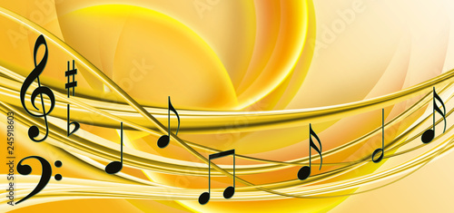 Fotografía image of notes on yellow background