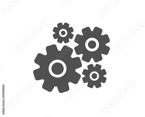 Cogwheel icon  Engineering tool sign  Cog gear symbol