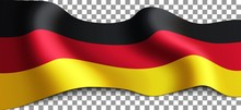 Vector Long German Flag On Tra...