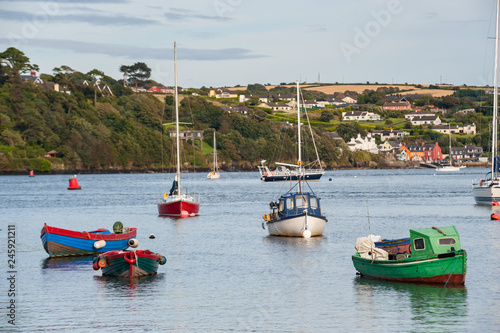 Small  fishing boats docked in Kinsale harbor, County Cork, Ireland