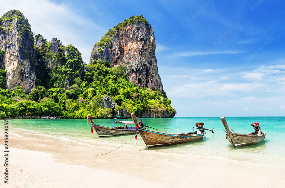 Fototapety, obrazy: Thai traditional wooden longtail boat