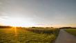 Sonnenuntergang Acker Wiese