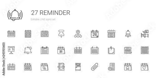 Fotomural  reminder icons set