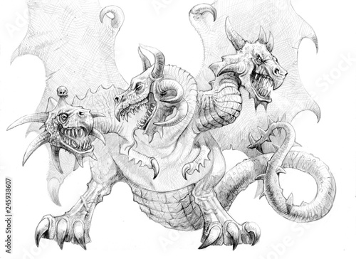 Fantasy Art Line Drawings