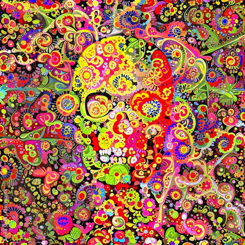 Ornate Skull Fototapet