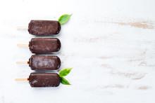 Chocolate Ice Cream On A Stick...