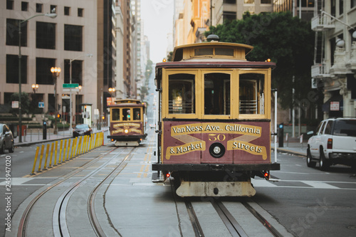 San Francisco Cable Cars on California Street, California, USA