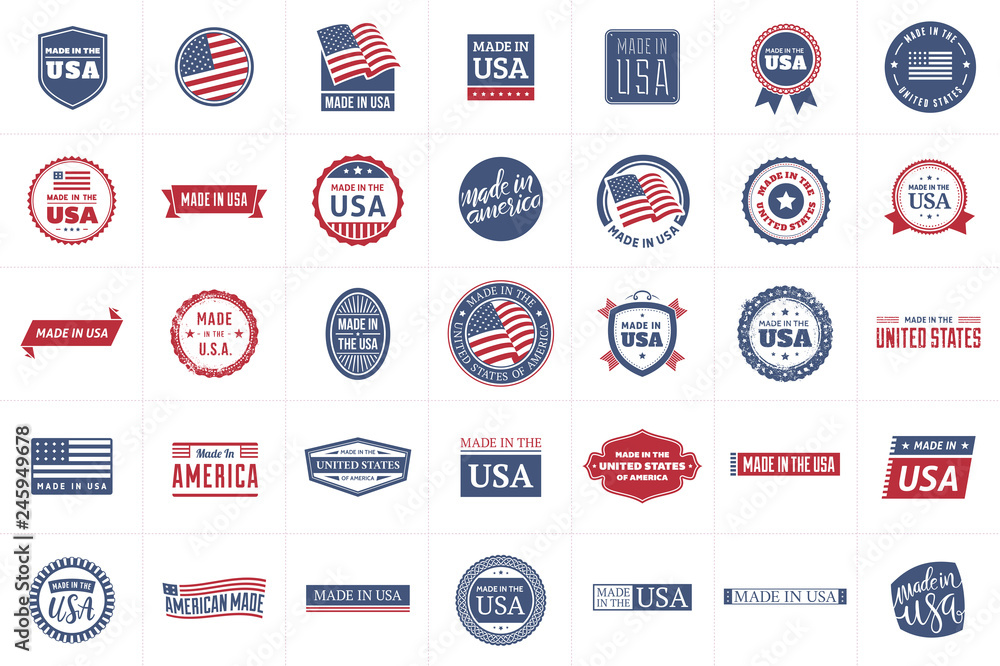 Fototapeta Made in the USA Labels