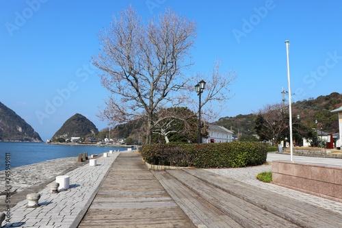 Keuken foto achterwand Poort 世界遺産 三角西港の風景