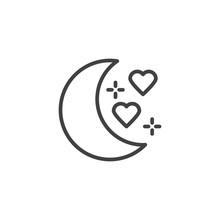 Honeymoon Line Icon. Linear St...