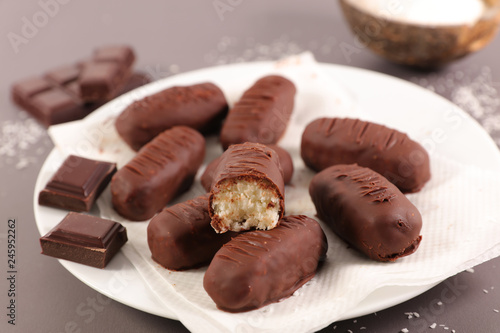 Photo  chocolate coconut candy