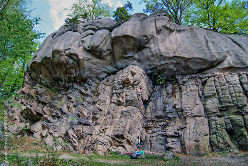 Fototapeta Rock climbing, Rudawy Janowickie mountains, Lower Silesia, Poland obraz