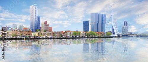 Photo Stands Amsterdam Panorama of Rotterdam
