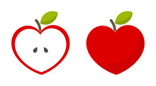 Red Heart Shaped Apples