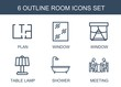 6 room icons