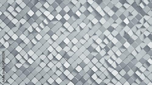 Photo White rhomb mosaic surface 3D render